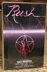 """RARE! Vintage 1981 Rush & Max Webster Concert Poster Hara Arena Ohio 20"""" x 13"""""""