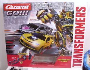 CARRERA GO! TRANSFORMERS BUMBLEBEE SLOT CAR SET BOXED 62333