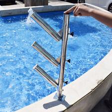 316 Stainless Steel Fishing Rod Holder Tree Adjustable Triple Fits Tracks Style