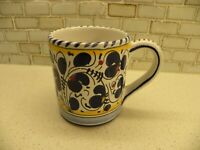 BLUE ROOSTER Italian Pottery Galletto Orvieto Tuscan16oz Coffee Mug Cup Italy