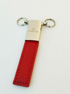 Designer Style Red Leather Looking Key Holder for Lexus