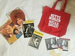 Bette Midler Hello Dolly Tote Bag Playbills Magazine Cover Diva Collection