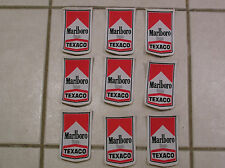 MARLBORO TEXACO MOTOR RACING PATCHES x 9 no. BRAND NEW 1970'S 1980'S JOB LOT