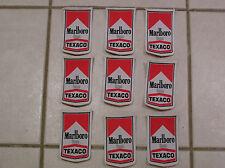 MARLBORO TEXACO MOTOR RACING PATCHES x 9 no. BRAND NEW 1970'S 1980'S JOB LOT