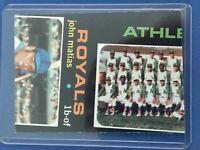 RARE 1971 Topps Baseball Double Error Card Oakland A's Team J.Matias 1 of 1 VG+