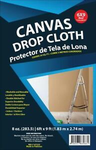 DROP CLOTH 6 x 9 Feet, COTTON CANVAS, 8 oz Heavy Weight, Beige Color, Dropcloth
