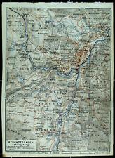 BERCHTESGADEN und Umgebung, alter farbiger Stadtplan, datiert 1926
