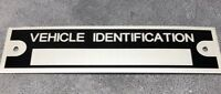 1 BLANK Vehicle Identification Car Truck Trailer Frame Plate Model # ID Tag