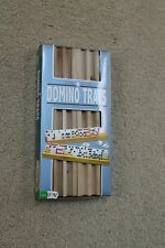 Domino Trays, FUNDEX, Solid Wood, package of 4