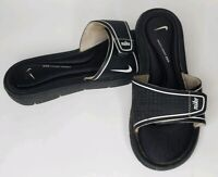 Women's Nike Black Comfort Memory Foam Footbed Slip On Slide Sandals Size 7