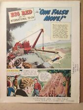 Big Red One False Move International Harvester Promo Working Proof 1952 Comic Ih
