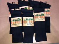 Alpaca Wool Solid Crew Casual Socks Unisex L  , everyday , Black  7 pairs
