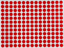 Circle Red Colored Stickers 8mm ~1/4 Rounded Dots Adhesive Map Labels 840 Pack