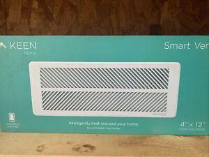 "Keen Home Smart Vent 4"" x 12"" Wall Floor or Ceiling Register KT01-412-001"