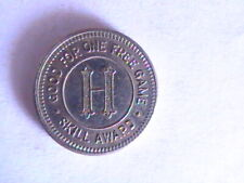 "GAME TOKEN """"H"" THIS TOKEN HAS NOCASH OR TRADE VALUE SKILL AWARD GOOD FOR 1 GAME"
