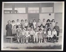 1958 CLASS PHOTO. RIVERSIDE, CA. MISS MARY. KINDERGARTEN