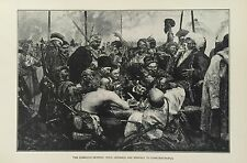 1901 - ENGRAVING THE COSSACKS SENDING DEFIANCE TO CONSTANTINOPLE (Russia)