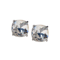 Origami Owl Silver & Swarvorski Clear Clara Stud Earrings
