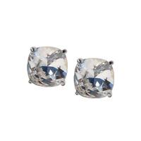 Origami Owl Silver & Swarvorski Clear Clara Stud Earrings