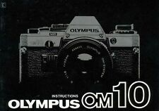 Olympus Om-10 Slr 35mm Camera Owners Instruction Manual