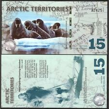 ARCTIC TERRITORIES 15 Polar Dollars 2011 Polymer UNC