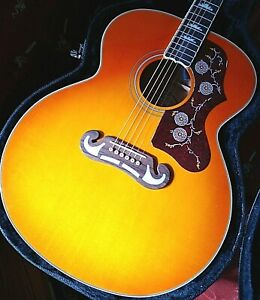 Epiphone Inspired by Gibson J200 Acoustic-Electric Guitar with deluxe case