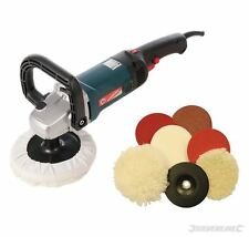 Silverline Sander Polisher Package Car Body Buffer Complete with Polishing Kit