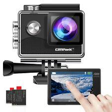 Campark Action Camera 4K 1080P WiFi Camcorder Waterproof Sports Cam Underwater