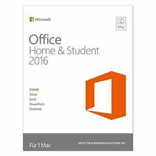 Microsoft Office Home & Student 2016 - für MAC - DE/EN/FR + Multilingual - NEU