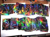1997 Marvel vs Wildstorm Parallel Refractor SINGLE BASE CARDS! SPIDER-MAN VENOM!