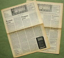 Wim T. Schippers, 1975: 2x Fluxus related article in Propria Cures
