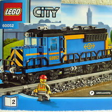Lego Diesel Engine Locomotive+Power Functions City Cargo Train 60052 Book 2 only