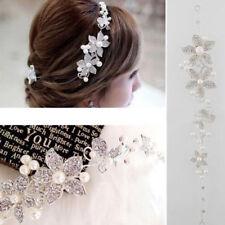 Hair Accessories Clips Romantic Crystal Pearl Flower HairPin Tiara Bridal Crown