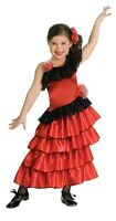 Sophisticated Flamenco Red Spanish Princess Dress-up Costume/Headpiece, Rubies