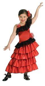 Sophisticated Flamenco Red Spanish Princess Dress-up Costume/Headpiece, Rubies