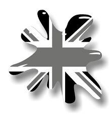 Retro Old School SPLAT & B&W MOD Grunge Union Jack Flag vinyl car sticker decal