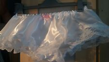 White Skirted Double Satin Panties for Men Sissy CD TV