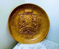 Vintage Solid Brass Ashtray Tray Plaque Hotel Bristol Wien by Berndorf Austria