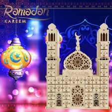 Eid Mubarak 30days Advent Calendar Ramadan Hanging Felt Countdown Calendar Decor