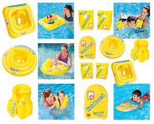 Bestway Swimsafe Step A B C Baby Kids Swim Teach Board Inflatable Seat Arm Bands