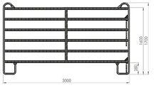 Roundpen Panels 1x Panele Absperrgitter mobile Boxe 3m x 1,7m Weidepanel