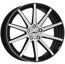 "17"" AEZ STRAIGHT MATT BLACK POLISHED FACE ALLOY WHEELS BRAND NEW 4x100 RIMS"