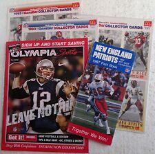 1987 New England Patriots Fact Book, 1993 Game Day McDonald's Cards, Tom Brady