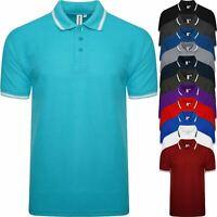 Mens Polo Shirt Short Sleeve Pocket Tipping Collar TShirt Big King Size 3XL- 6XL