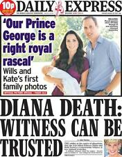 The Daily Express KATE MIDDLETON PRINCE WILLIAM Royal Baby August 20th Newspaper