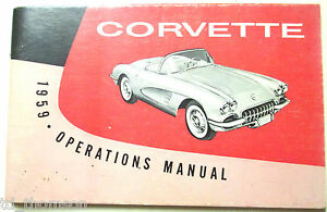GM 1959 Chevy Corvette Owner's Manual (o)#3758068