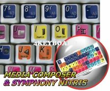 Avid Media Composer & Symphony Nitris keyboard stickers
