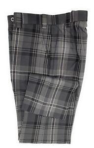 Men's Grey Scottish Tartan Trouser, Golf