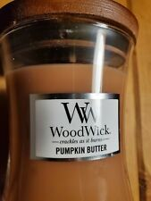 WW Woodwick Pumpkin Butter 9.7oz Candle NEW crackles as it burns with wood lid!