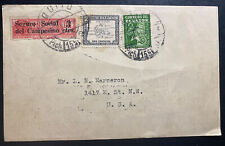 1936 Quito Ecuador Radio Postcard Cover To USA HCJB South America Calling